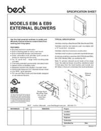 EB6 EB9 Specification Sheet 99042517H