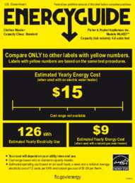 Energy Label USA AQS