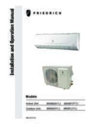 Models MWM09Y1J, MWM12Y1J, MRM09Y1J, MRM12Y1J Installation Manual