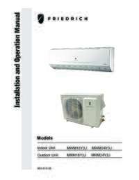 Models MWM18Y3J, MWM24Y3J, MRM18Y3J, MRM24Y3 Installation Manual