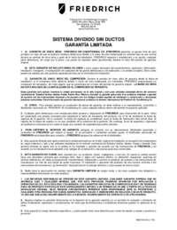 Warranty 1-8 16-SEER (SPANISH)
