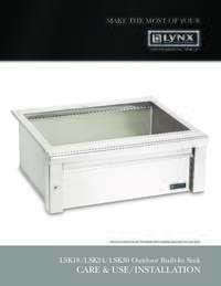 LSK Sinks Care & Use