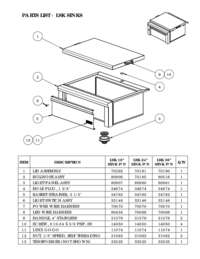 Parts List - LSK Sinks