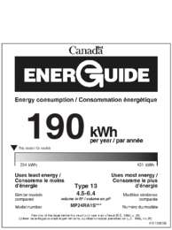 Energy Guide - (Canada)