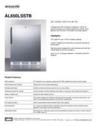 Brochure AL650LSSTB