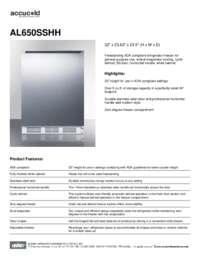 Brochure AL650SSHH