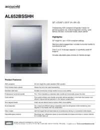 Brochure AL652BSSHH