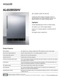 Brochure AL652BSSHV