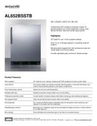 Brochure AL652BSSTB