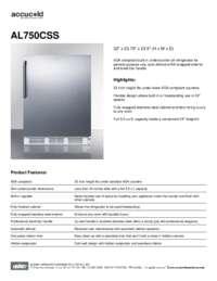 Brochure AL750CSS