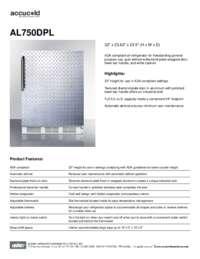 Brochure AL750DPL