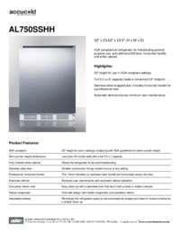 Brochure AL750SSHH