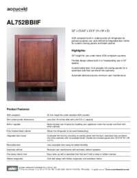 Brochure AL752BBIIF