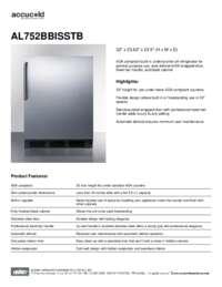 Brochure AL752BBISSTB