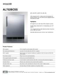 Brochure AL752BCSS