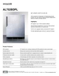 Brochure AL752BDPL