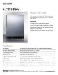 Brochure AL752BSSHV