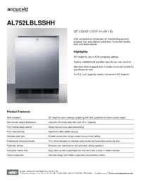 Brochure AL752LBLSSHH