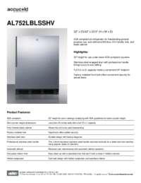 Brochure AL752LBLSSHV