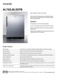 Brochure AL752LBLSSTB