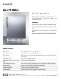 Brochure ALB751CSS
