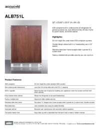 Brochure ALB751L
