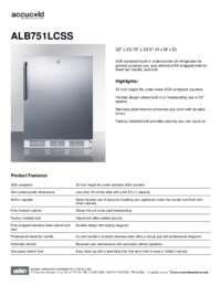 Brochure ALB751LCSS