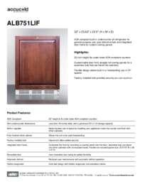 Brochure ALB751LIF