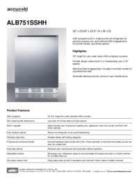 Brochure ALB751SSHH