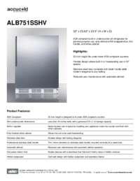 Brochure ALB751SSHV