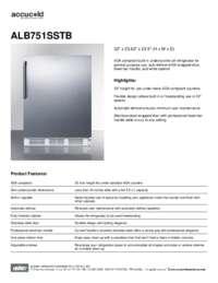 Brochure ALB751SSTB