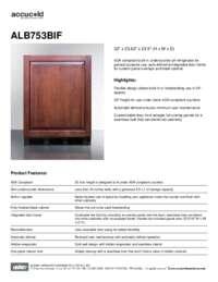 Brochure ALB753BIF