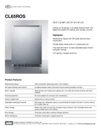 Brochure CL65ROS