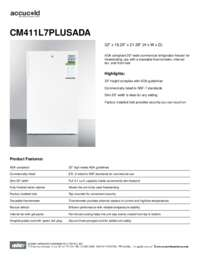 Brochure CM411L7PLUSADA