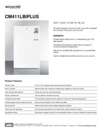 Brochure CM411LBIPLUS