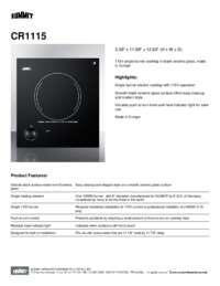 Brochure CR1115