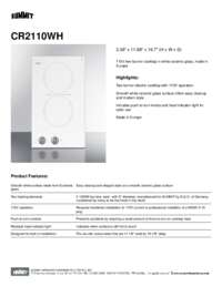 Brochure CR2110WH