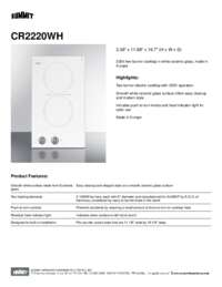 Brochure CR2220WH