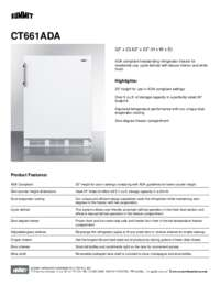 Brochure CT661ADA