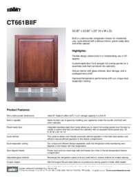 Brochure CT661BIIF