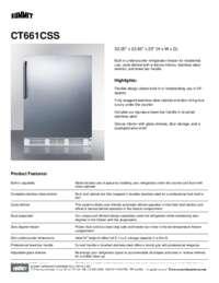 Brochure CT661CSS