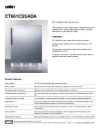 Brochure CT661CSSADA