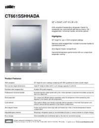 Brochure CT661SSHHADA