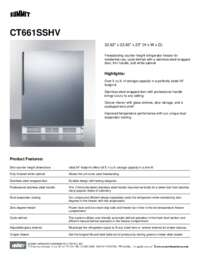 Brochure CT661SSHV