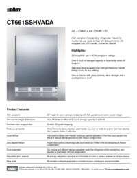 Brochure CT661SSHVADA