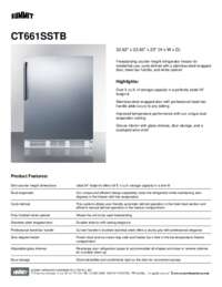 Brochure CT661SSTB