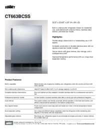 Brochure CT663BCSS