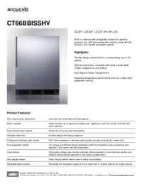 Brochure CT66BBISSHV