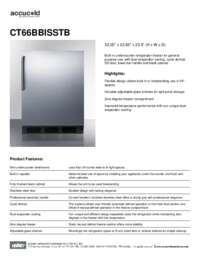 Brochure CT66BBISSTB