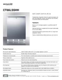 Brochure CT66LSSHH